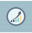 graph up color flat icon vector image vector image