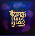 happy new year 2019 typographic emblem vector image vector image