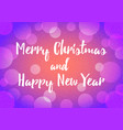 happy new year background decoration with bokeh vector image vector image