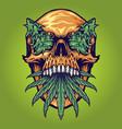 head skull weed kush vector image vector image