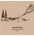 In the Mountains vector image vector image