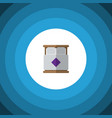 isolated double bed flat icon mattress vector image