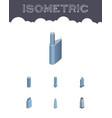 isometric skyscraper set of exterior building vector image vector image