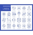Line icons in a modern style vector image vector image