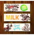 milk product sketch vector image vector image