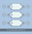 modern numerical line banners icons set on blue vector image vector image
