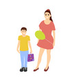 mom and son shopping from the sale vector image