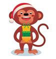 Monkey with gifts New Year vector image vector image