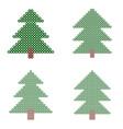 mosaic xmas tree circles and squares vector image vector image