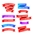 multicolored modern set ribbons isolated on a vector image