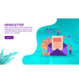 newsletter concept with character template for vector image vector image