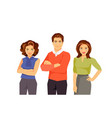 office fashion people vector image vector image