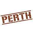 Perth brown square stamp vector image vector image