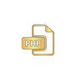 PHP computer symbol vector image