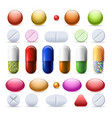 pill and tablets set vector image vector image