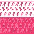 Pink ribbons seamless borders