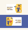 postman business card mailman delivers mails in vector image vector image
