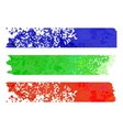 rainbow paper stripe banners vector image