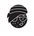 rasta emoji black concept icon rasta emoji vector image