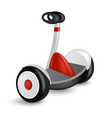 realistic mini segway icon isolated on white eco vector image vector image