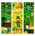 religious st patricks day holiday irish symbols vector image vector image