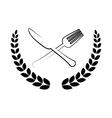 restaurant cutlery utensil vector image vector image