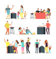 resting people on bbq picnic active family and vector image