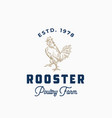 rooster poultry farm abstract sign symbol vector image vector image