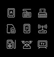 set line icons gadget vector image