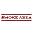 Smoke Area Watermark Stamp vector image vector image