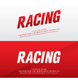 sport modern alphabet and number fonts racing vector image vector image