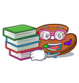 student with book palette mascot cartoon style vector image