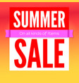 summer sale commercial poster on hot background vector image vector image