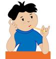 Thinking boy vector image vector image