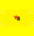 vs comparison on a yellow background letters of vector image