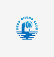 diving club logo vector image