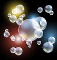 bubbles eps10 Transparent multicolored soap vector image