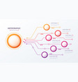 6 options infographic design structure vector image vector image