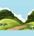 a green nature landscape vector image vector image