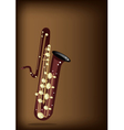 A Musical Bass Saxophone on Dark Brown Background vector image vector image