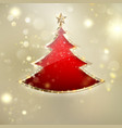 abstract christmas tree background eps 10 vector image vector image