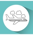 airplane flight design vector image
