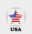 american flag star logo on a gray background vector image