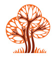 Art graphic of tree season concept can be vector image