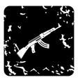 Automatic Kalashnikov icon grunge style vector image vector image