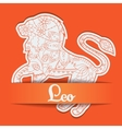 Background with zodiac sign Leo vector image vector image