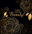 beautiful golden line vector image vector image