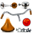bicycle spares vector image