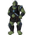 brutal cartoon strong orc vector image vector image