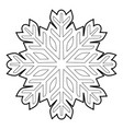 cold icon outline style vector image vector image